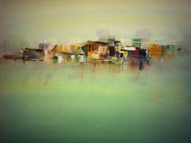 Kazuko Kasuya-Schlegel – Déjà vu, Acryl, 70x70
