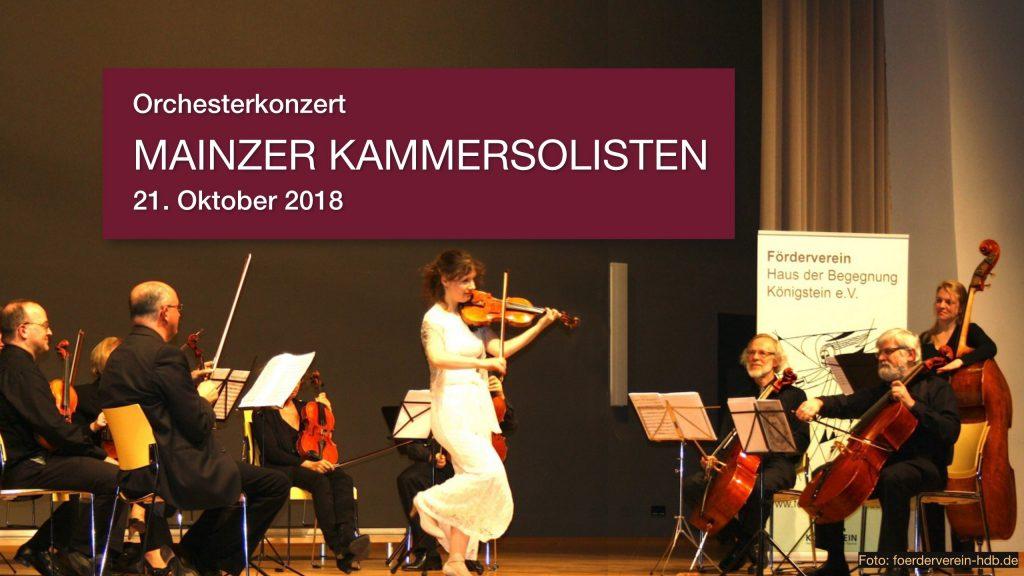 "Orchesterkonzert ""MAINZER KAMMERSOLISTEN"", 21. Oktober 2018"
