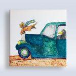 Annette Andernacht: Porzellanmalerei – Fliese 15×15 cm