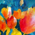 Elke Uta Summen: Farbstarke Acrylmalerei – Frühlingsgefühle, 70×50. cm
