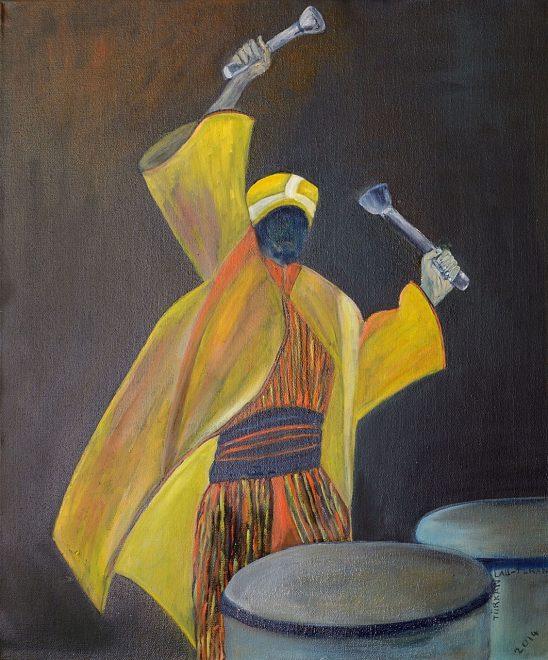Türkan Lau-Turan – Trommler, 50x60 cm