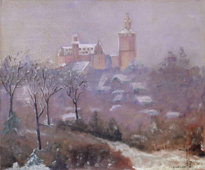 Türkan Lau-Turan – Kronberg im Winter, 60x50 cm